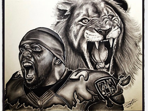 The Roar of Ray Lewis Print