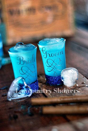 Something Blue Shot Glass Set