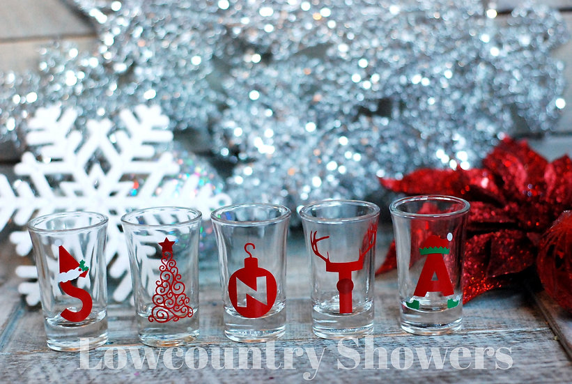SANTA Shot Glass Set