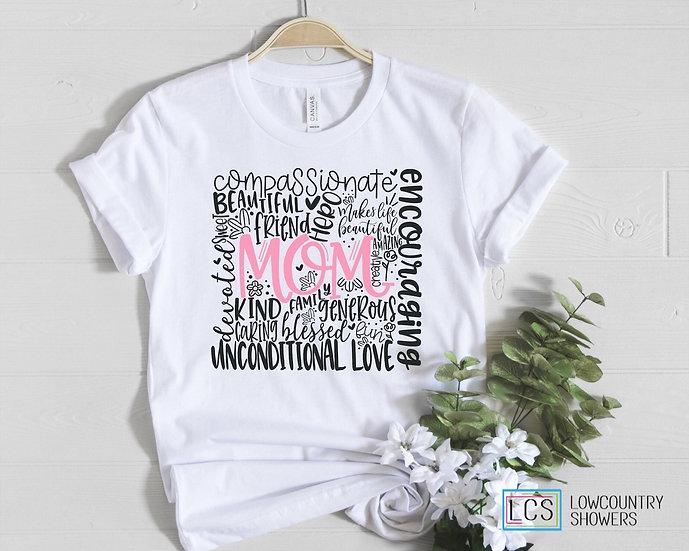 Mom Word Art T-Shirt