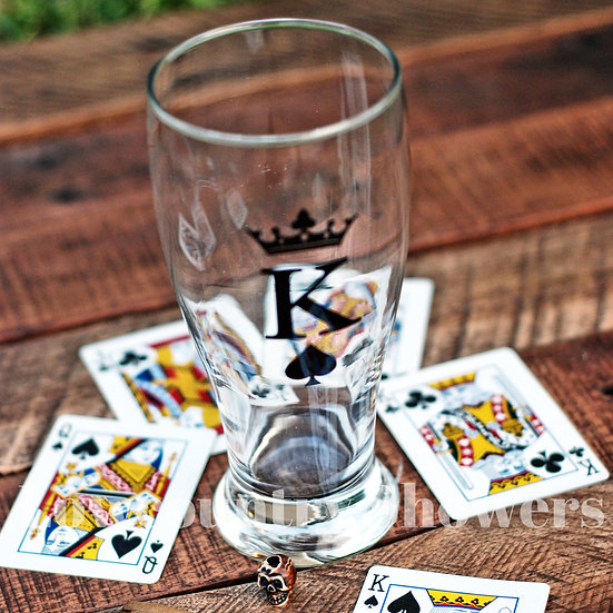 King Beer Glass