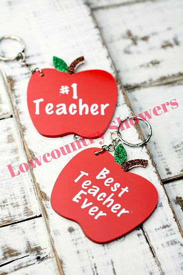 Teacher's Acrylic Key Chain