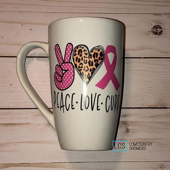 Peace Love Cure Coffee Mug