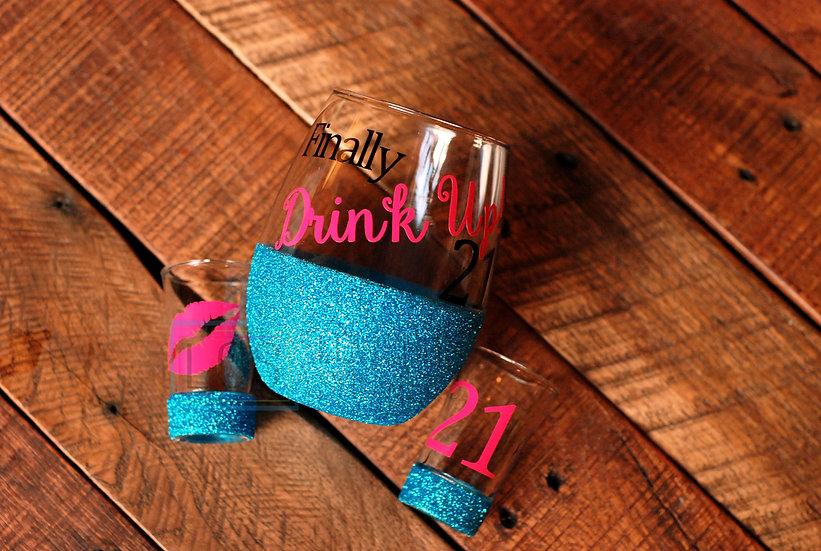 Drink Up! Finally 21 Set