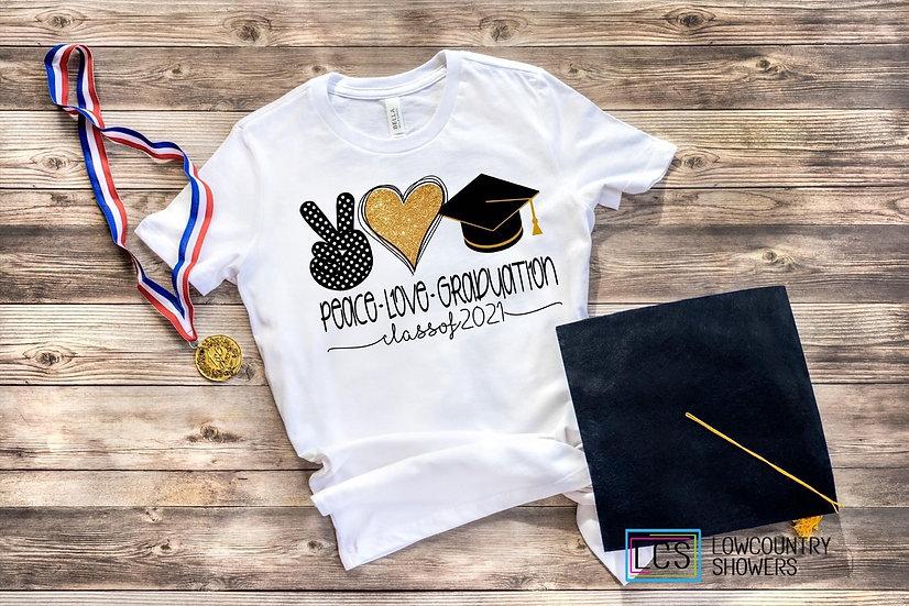 Peace Love GraduationT-Shirt