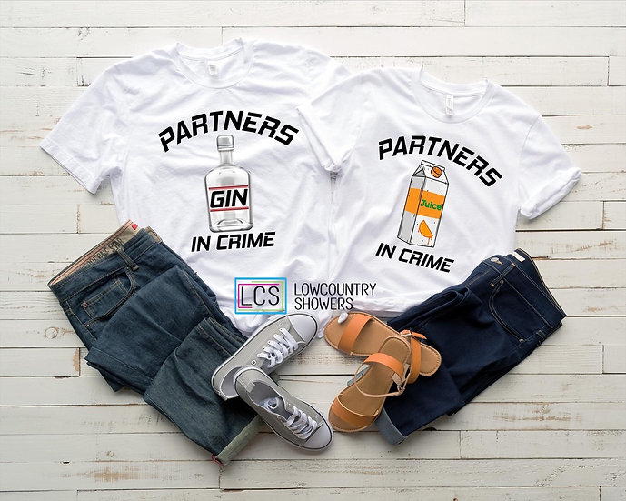 Partners in Crime T-shirt Set