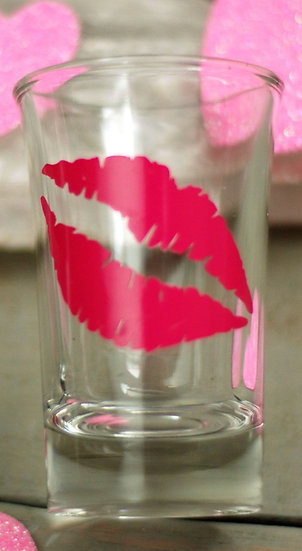 Hot Pink Lips Shot Glass