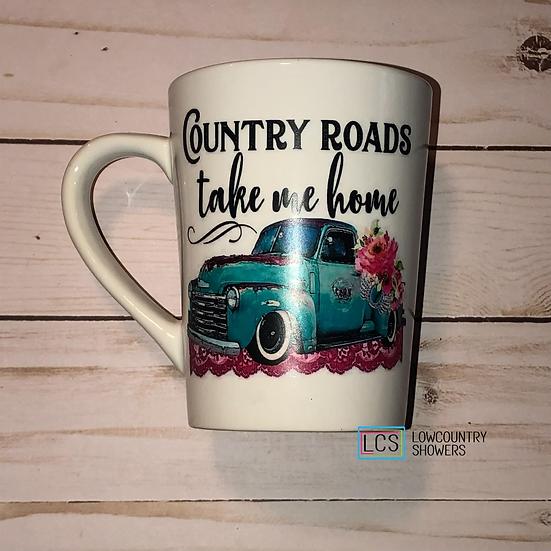 Country Roads Take Me Home Coffee Mug