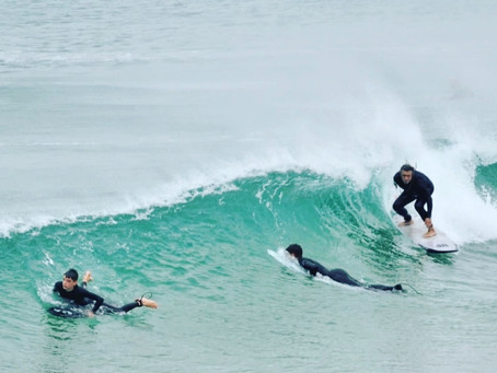 Disfrutando de nuestras olas...