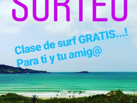🌈FRIENDS & FAMILY SURF SCHOOL🌈  SORTEO de una clase de surf para dos personas!!!! Gana y ven