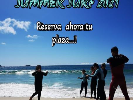 Reserva de plazas abierta para verano 2021