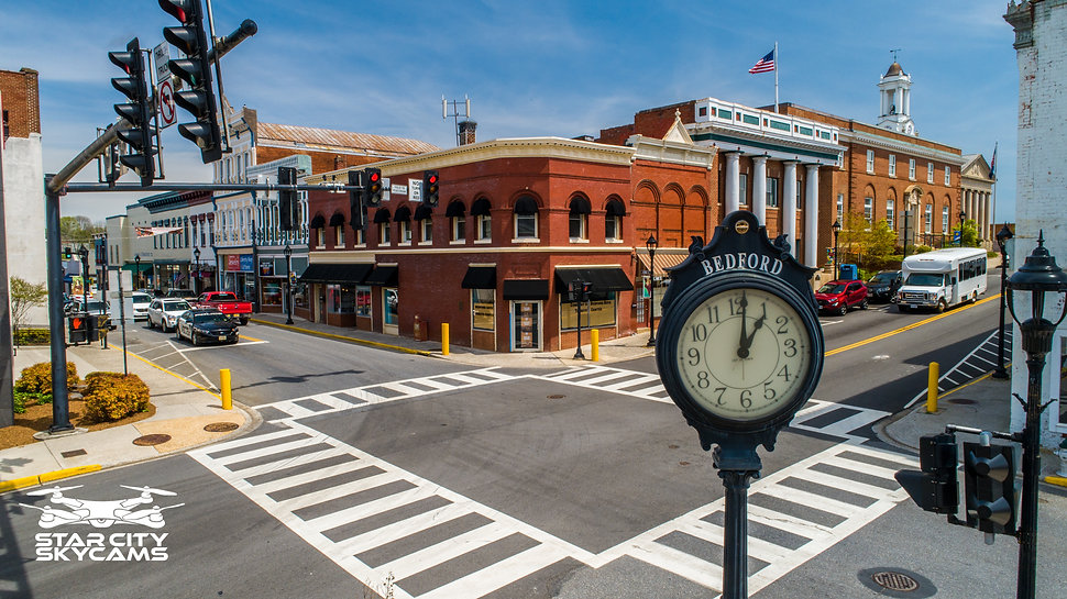 Centertown Bedford Centertown Clock Down