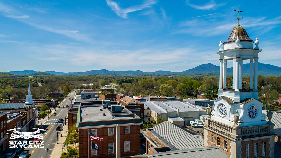 Bedford County Courthouse Peaks of Otter