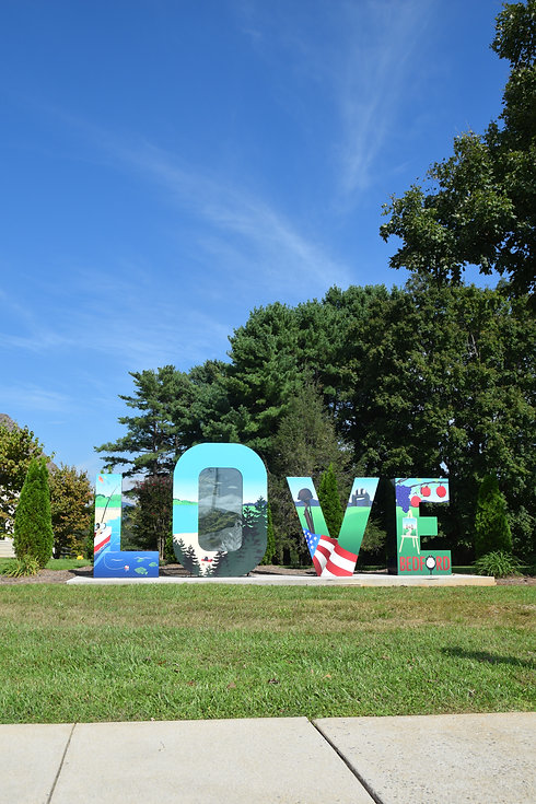 Love Sign Virginia Bedford Area Welcome