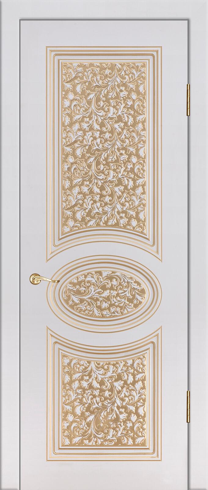 Сильвия 3 Крем с золотой патиной