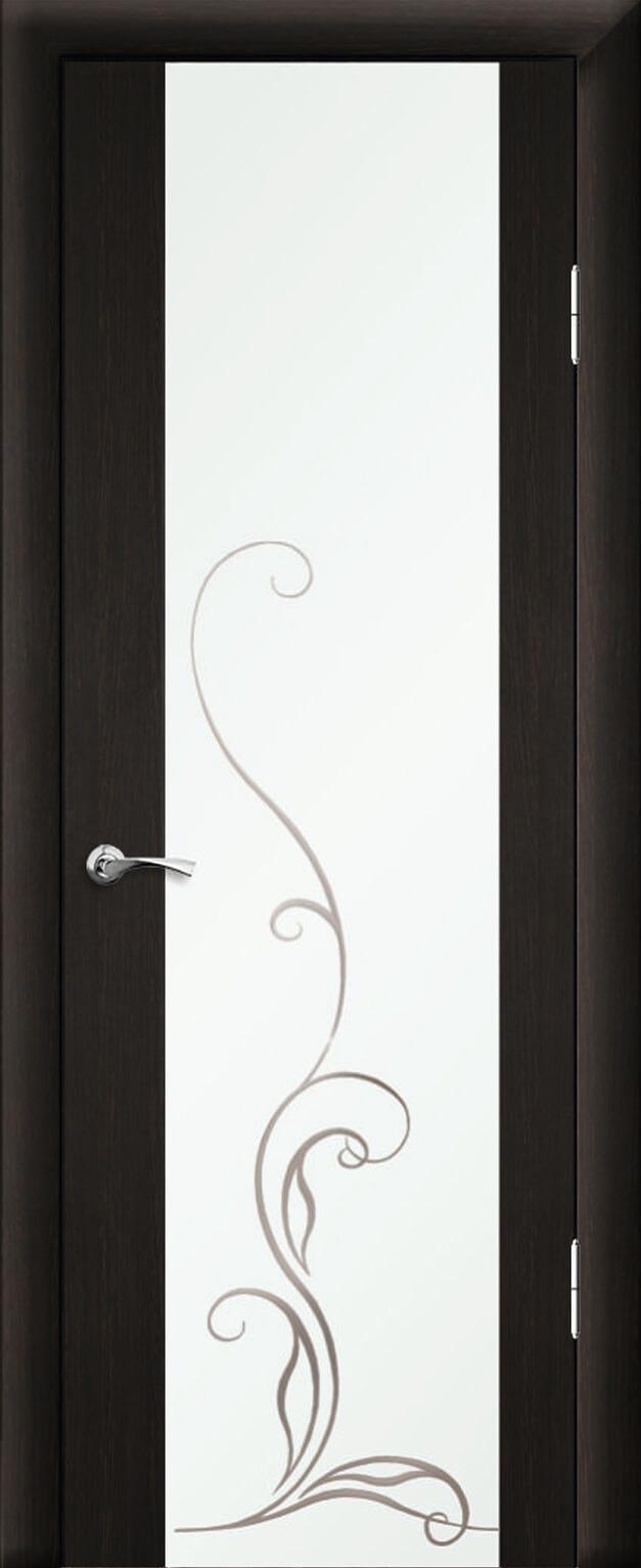 Люкс 1 Эконом ДО шелкография с рисунком Венге темный 26