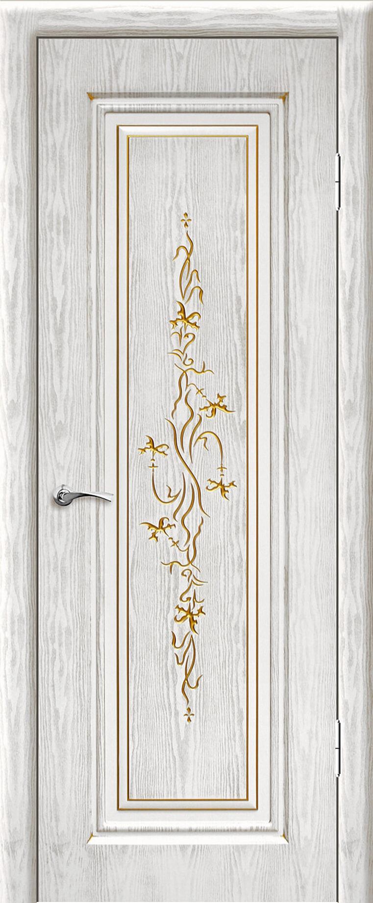 Сиена ДГ Белый цвет с золотой патиной