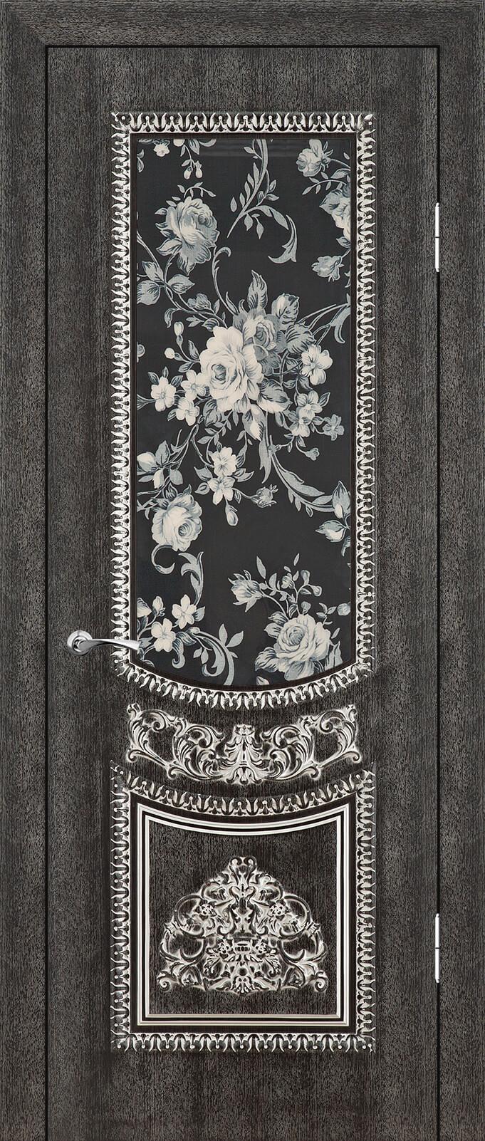 Санторини ДО триплекс с фотопечатью, Венге темный 26 с серебряной патиной