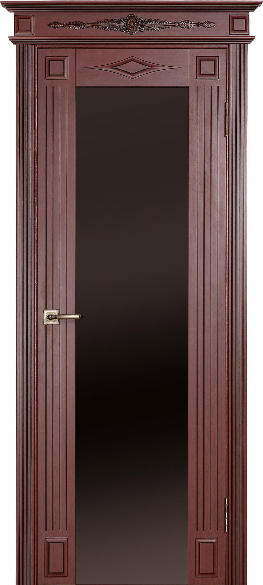 палермо Д Триплекс Махагон с коричневой патиной и капителью