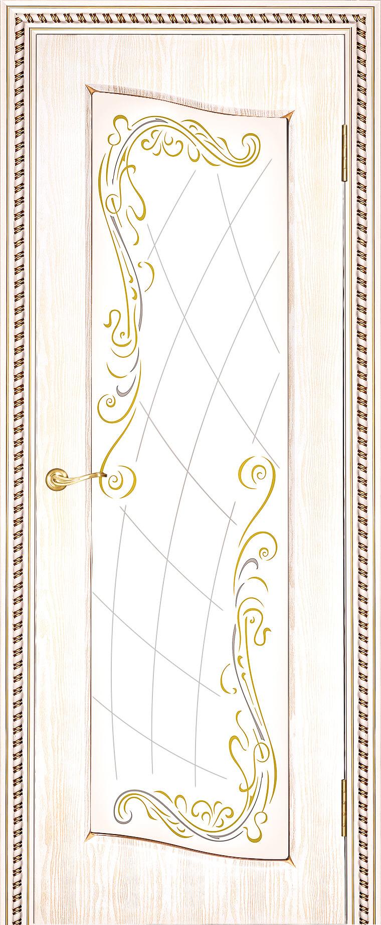 Астория ДО Белый цвет с золотой патиной