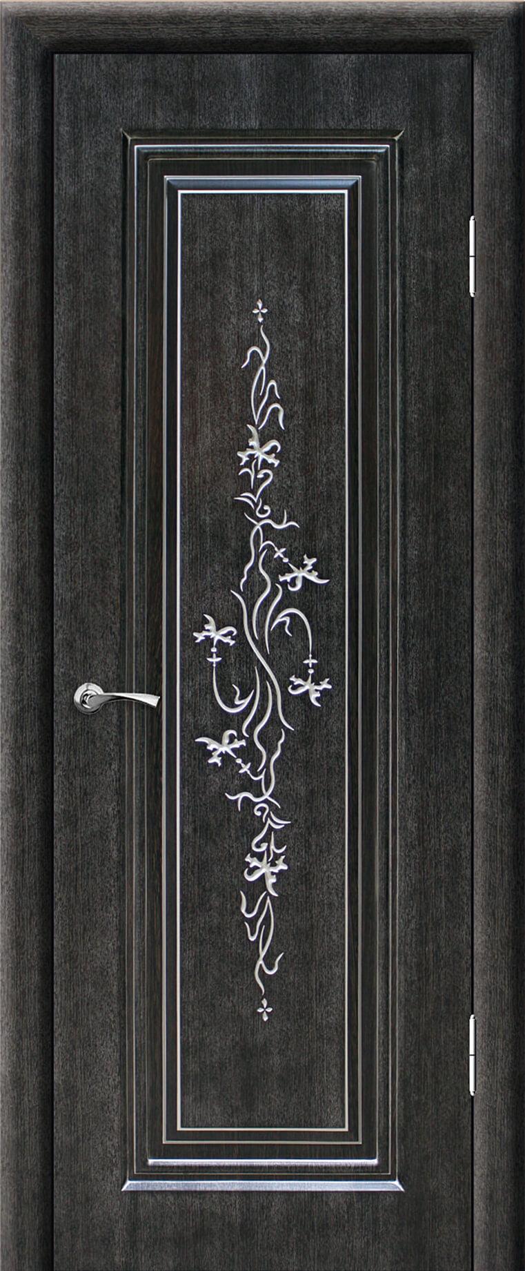 Сиена ДГ Венге темный 26 с серебряной патиной