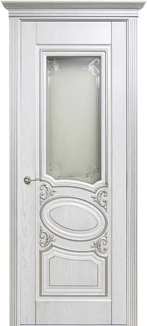 Оливия 1 ДО белый цвет с серебренной патиной