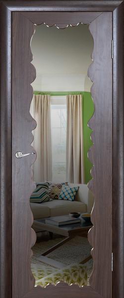 Милана ДО Триплекс с зеркалом Орех каналетто