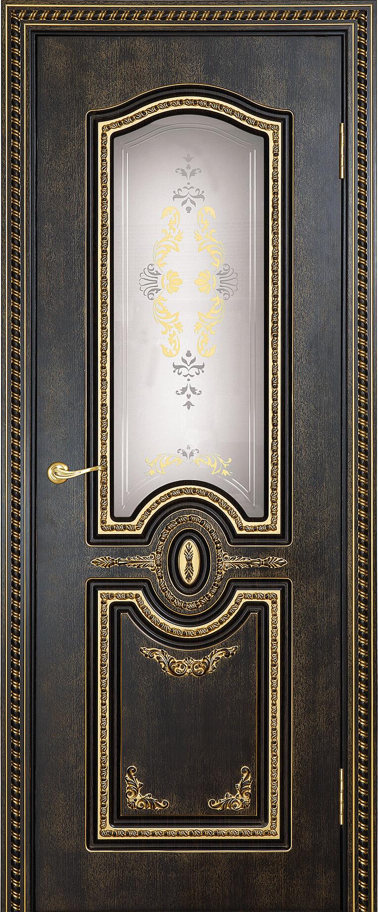 калисто ДГ Венге темный 26 с золотой патиной