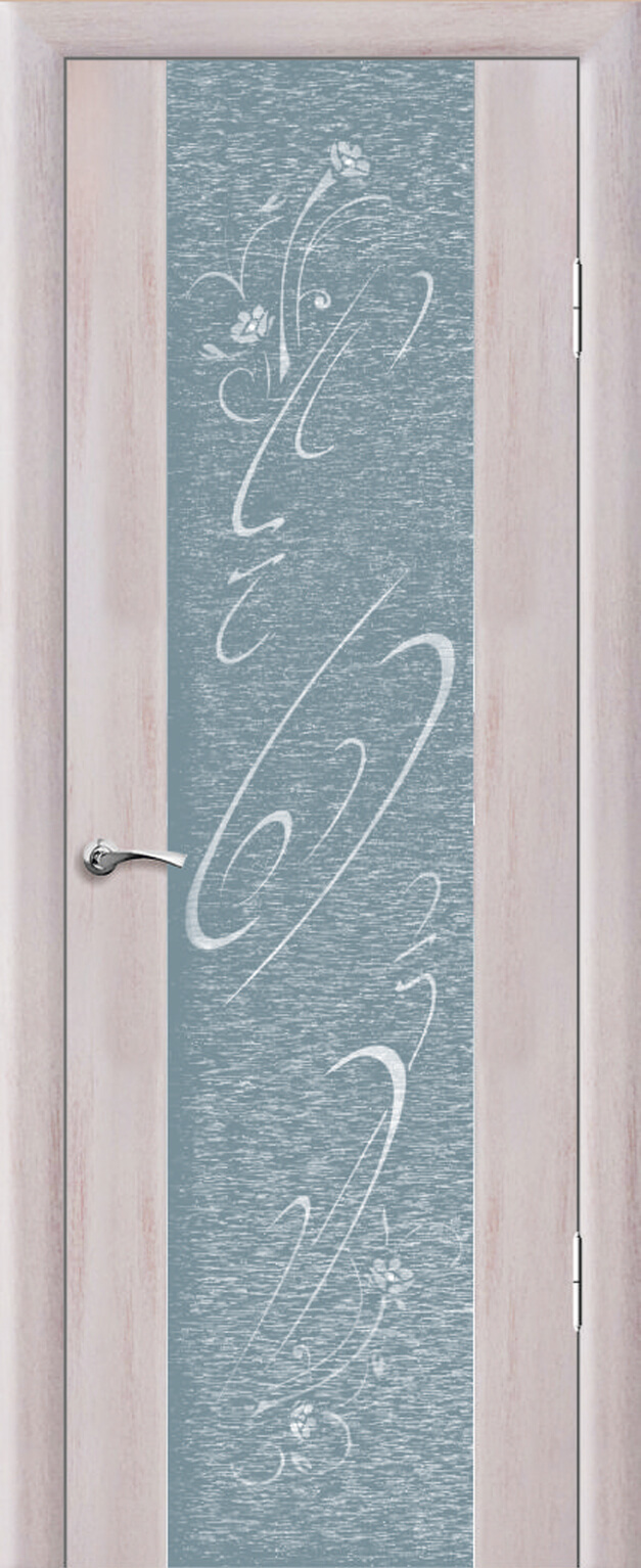 Люкс 1 ДО Триплекс с тканью с рисунком со стразами Кантри