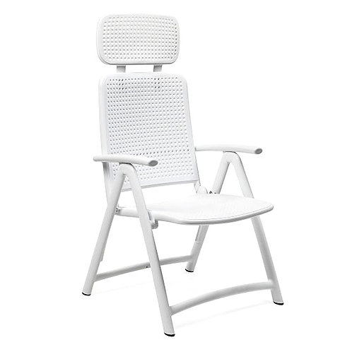 STOCK - NARDI Aquamarina - Chaise d'extérieur pliable Relax