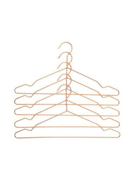 HAY Twisted copper kleerhanger (set van 5)