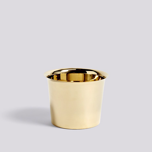 HAY Botanical Plant Pot + Saucer - Brass