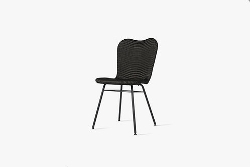 VINCENT SHEPPARD LILY dining chair steel a base black