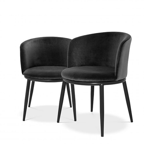 EICHHOLTZ Filemore Dining Chair - cameron black