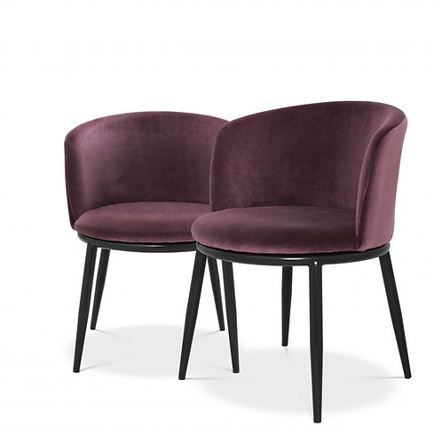 Chaise de salle à manger Filemore EICHHOLTZ - cameron violet
