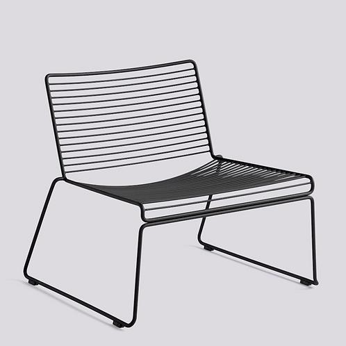 HAY HEE Lounge chair - zwart gelakt