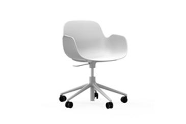 NORMANN COPENHAGEN Chaise de bureau Form base blanche