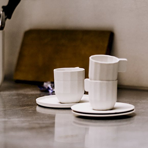 HAY PAPER Porcelein Coffee Cup + Saucer (4x)