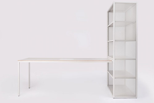 ONDARETTA Dry desk (140x80) + Shelf (H195xB132xD55)