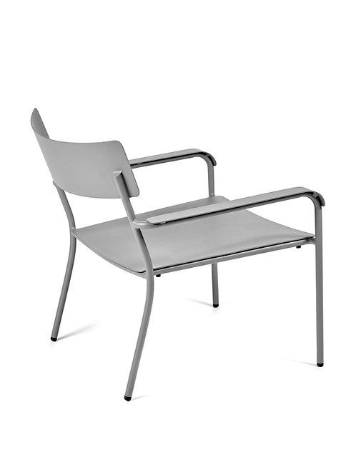 SERAX AUGUST Loungestoel Alu met armleuning