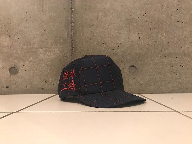 Bartending cap <Navy×Red>
