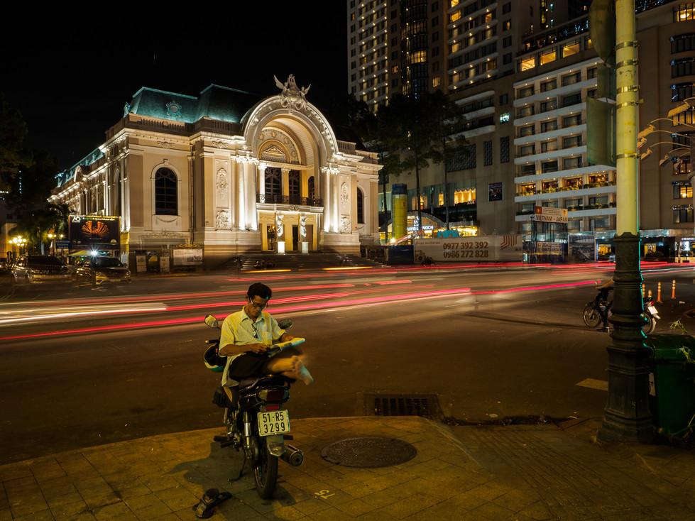 Saigon Opera house at night