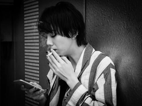 smoking break in Shibuya