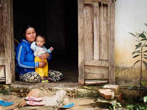 Ba Na (Bahnar) minority in Kon Tum