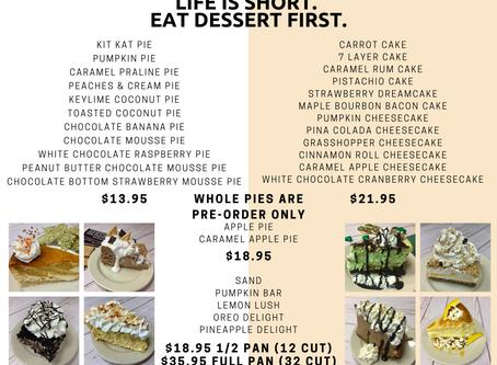 Dessert Orders