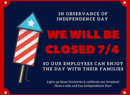 Rockefeller's Grille is closed for the 4th of July