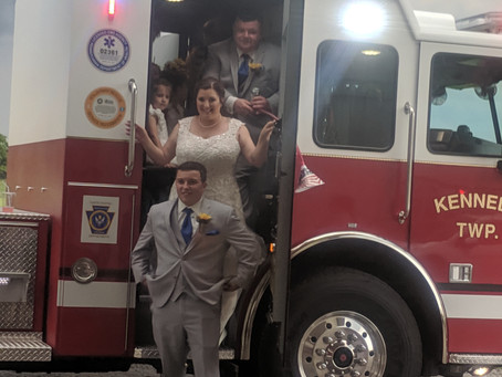 Firetrucks at Rockefeller's