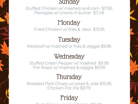 November Dinner Specials