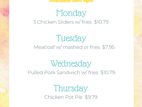 August Lunch Specials
