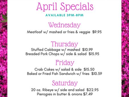 April Specials